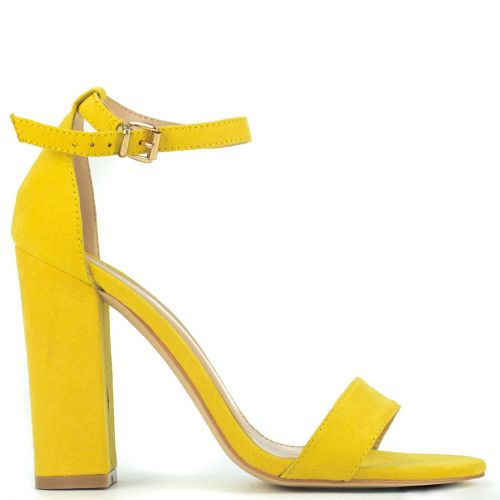 Yellow sandal in suede