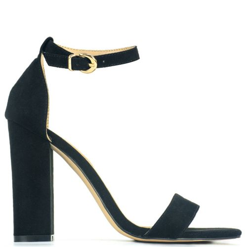Black sandal in suede