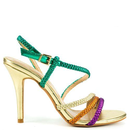 Gold multistrap sandal