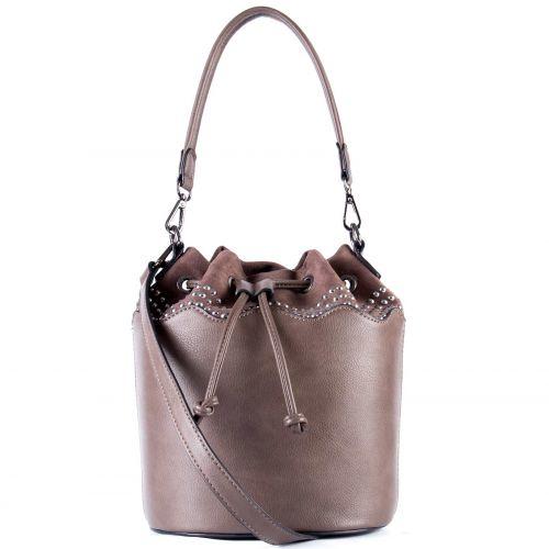 Taupe τσάντα πουγκί