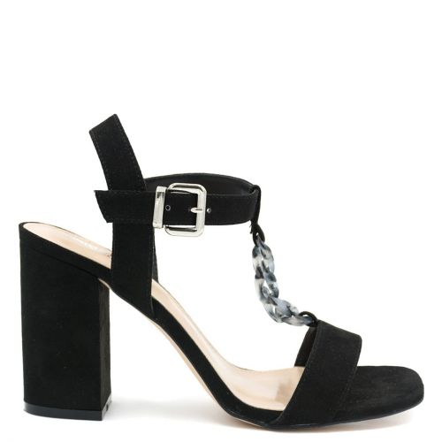 Black sandal with chain