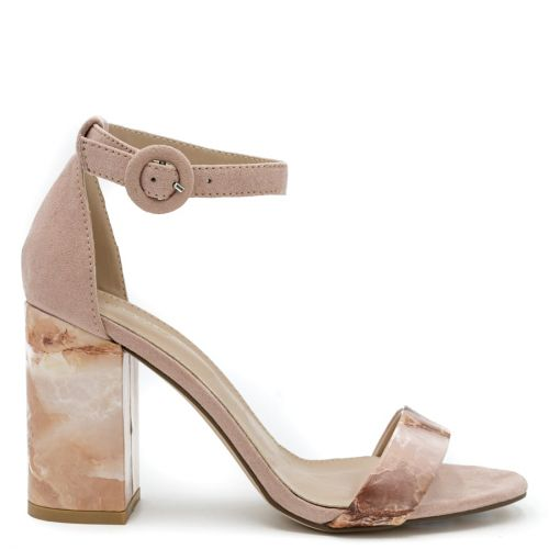 Pink marble effect sandal