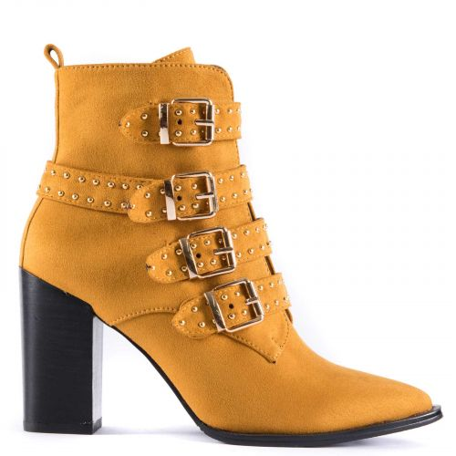 Yellow western bootie with studs