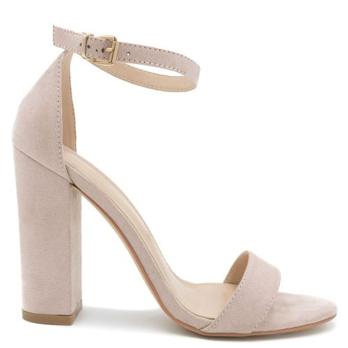 Beige high heel sandal