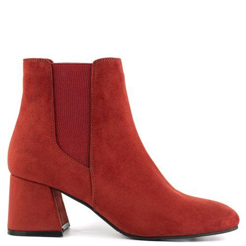 Red high heel bootie