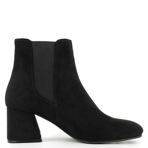 Black high heel bootie