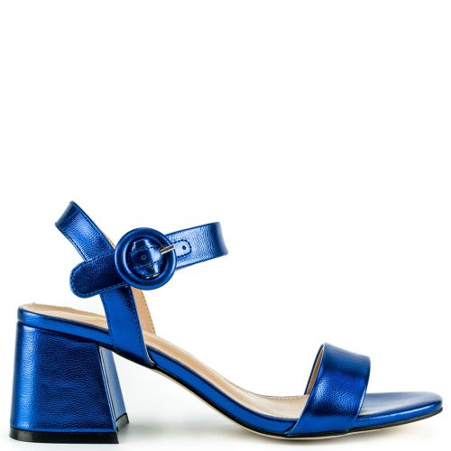 Royal blue metallic sandal