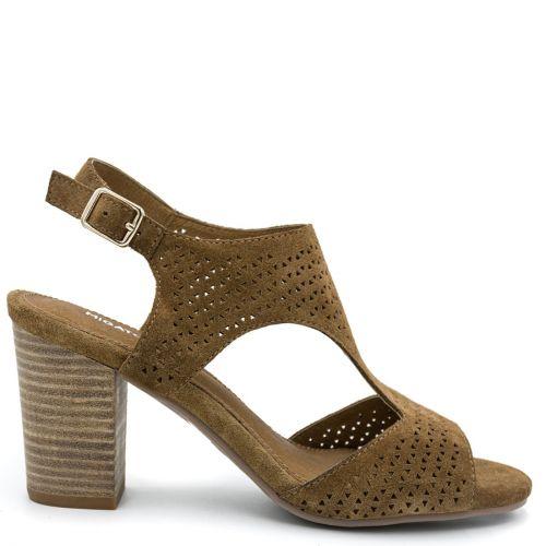 Camel leather sandal