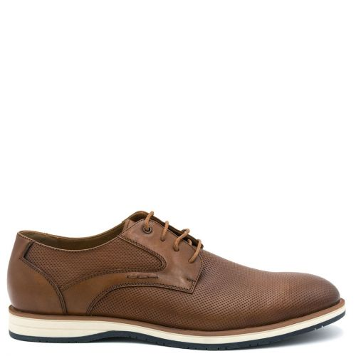 Mens tan leather derby