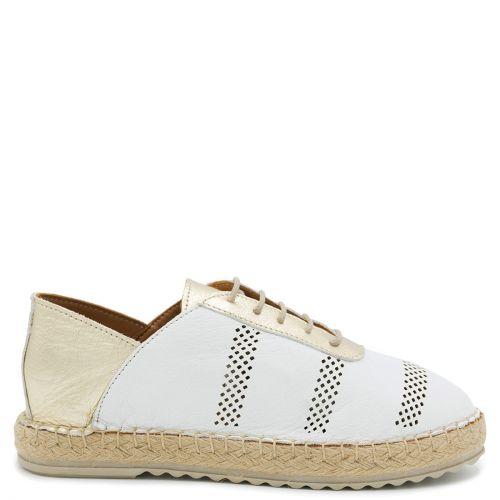 White leather espadrille