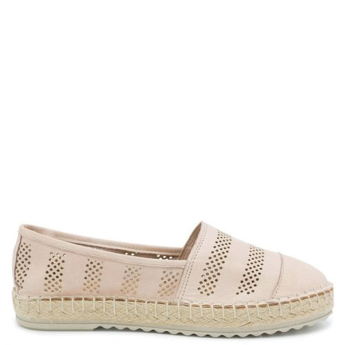 Pink leather espadrille