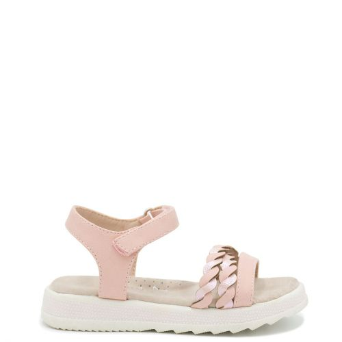 Kid's pink sandal with straps decoration