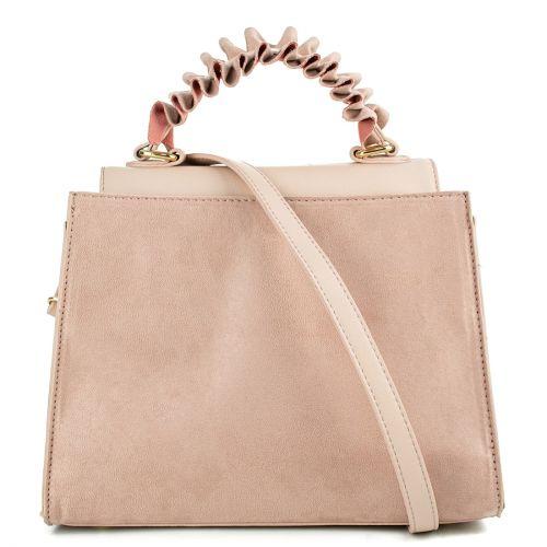 Ροζ τσάντα με καπάκι