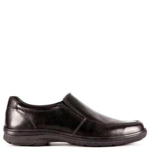 Men's black leather loafer