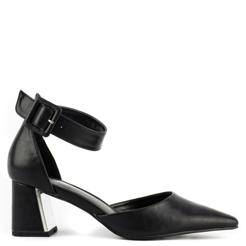 Black pump with ankle strap