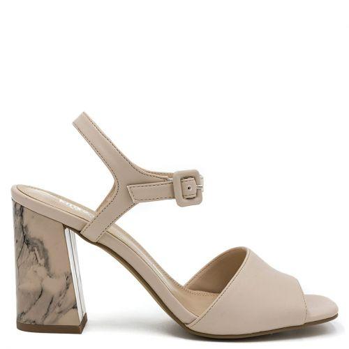 Beige marble effect sandal