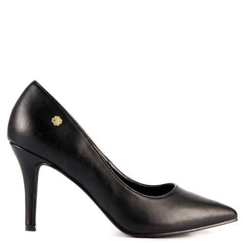 Pointy pump in black