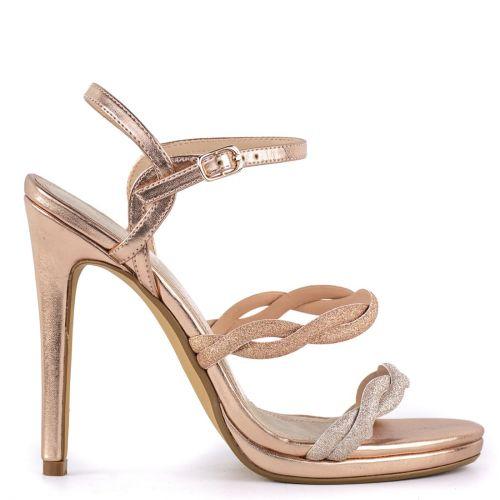Pink gold high heel sandal