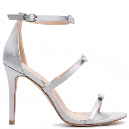 Ice satin multistrap sandal with bows