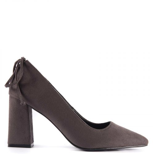Grey pump with bow