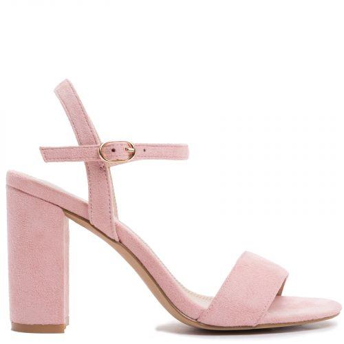 Ροζ σουέντ πέδιλο
