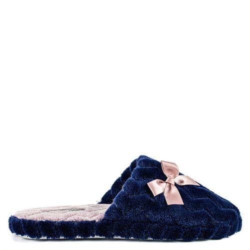 Dark blue slipper with bow