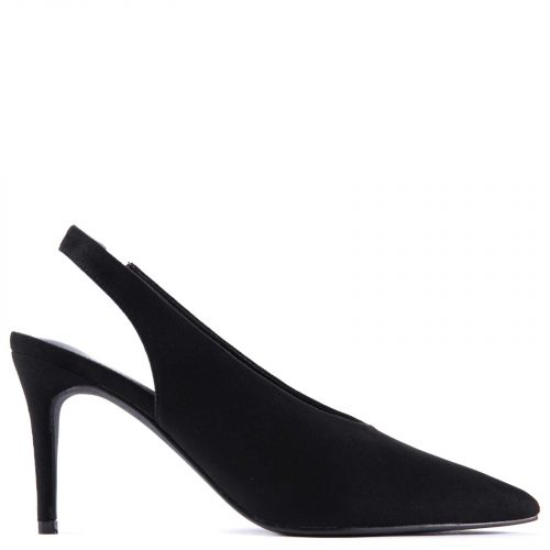 Black slingback pump