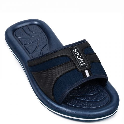 Men's blue athletic flip flop