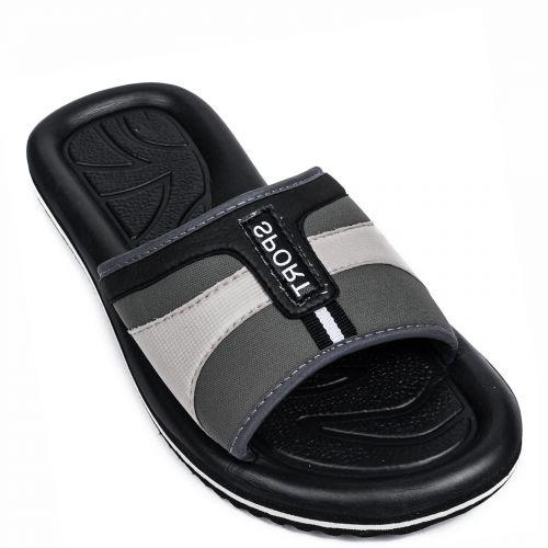 Men's black flip flop