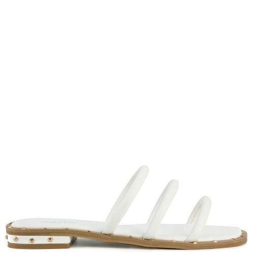 Άσπρο multistrap σανδάλι