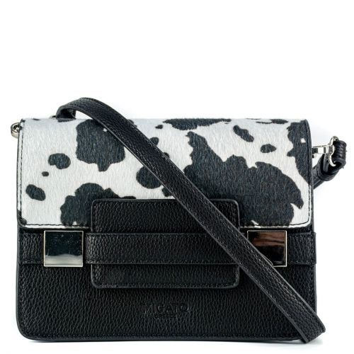 Black & white animal hair bag