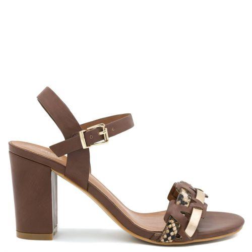 Brown snakeskin sandal