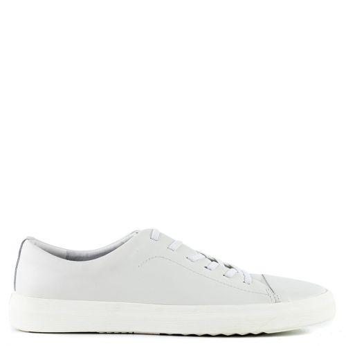Men's white leather sneaker