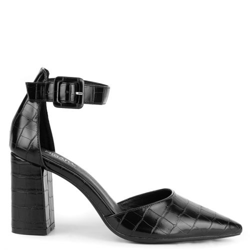Black croc pump