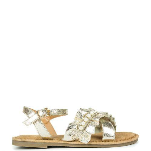 Kid's lt.gold metallic sandal