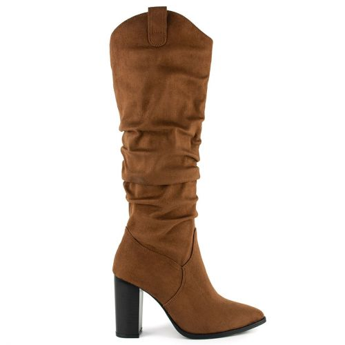 Tobacco western boot