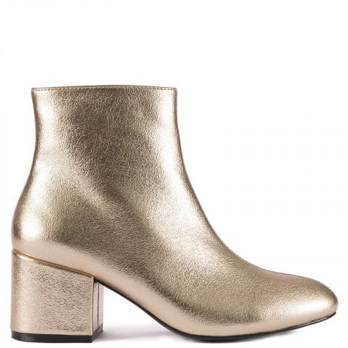 Gold metallic bootie