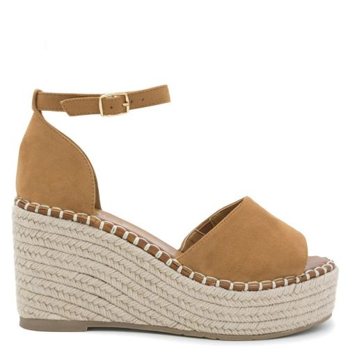 Tabacco espadrille in suede texture