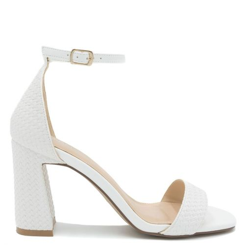 White woven sandal