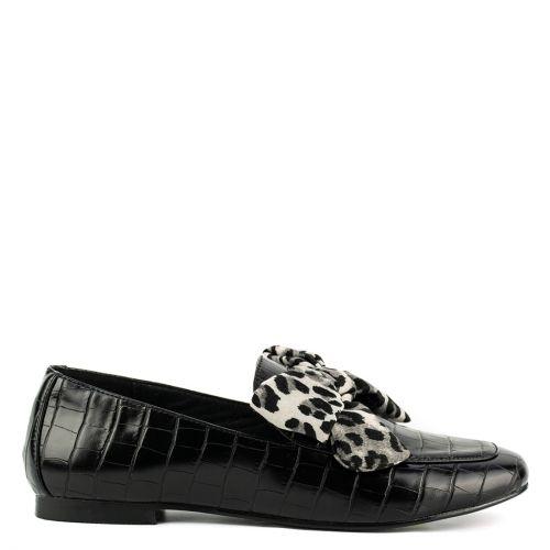 Μαύρο κροκο loafer