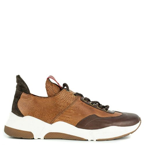 Men's tobacco leather sneaker