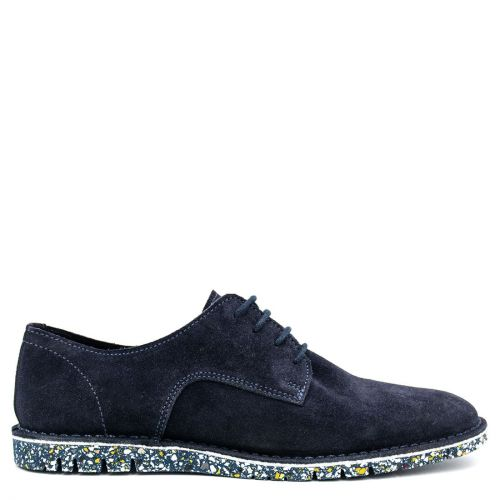 Men's navy suede shoe