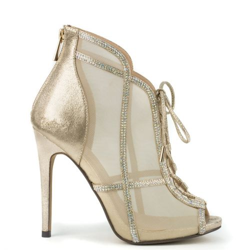 Gold bridal bootie