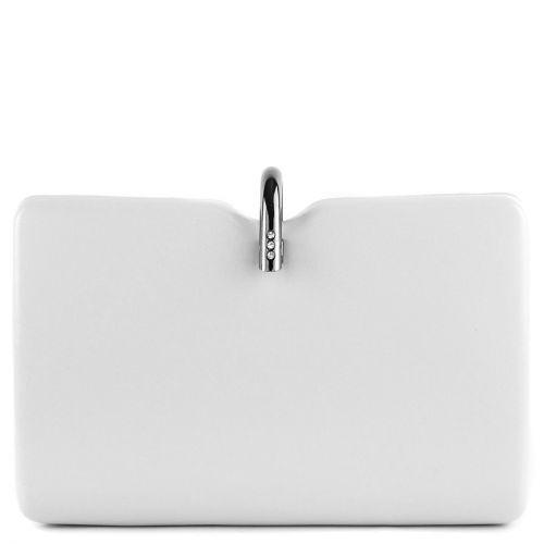 Λευκό clutch με μεταλλικό κούμπωμα
