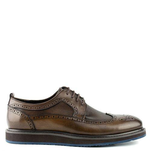 Men's brown leather derby