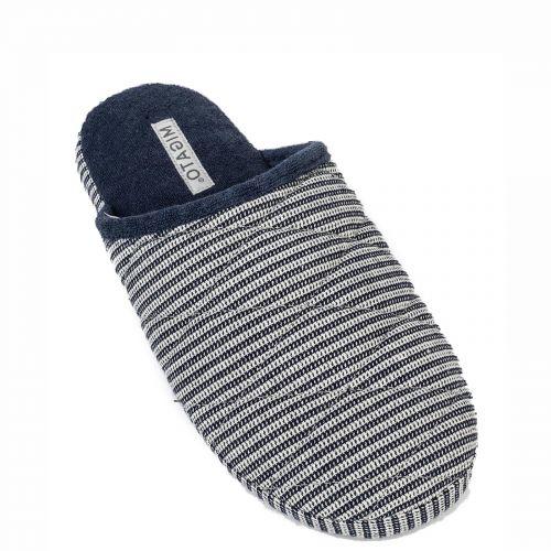 Men's dark blue slipper