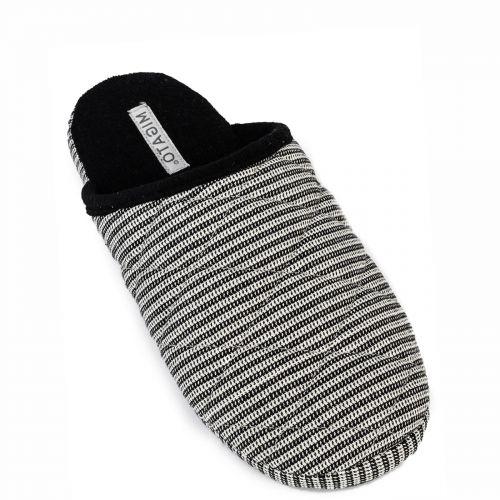 Men's black slipper