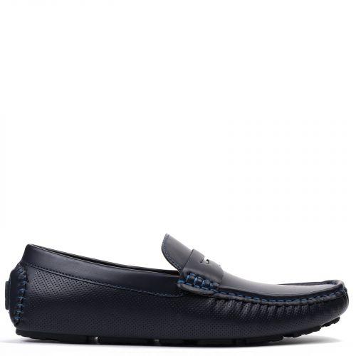 Men's blue moccasin