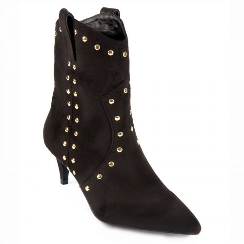 Black western bootie with studs