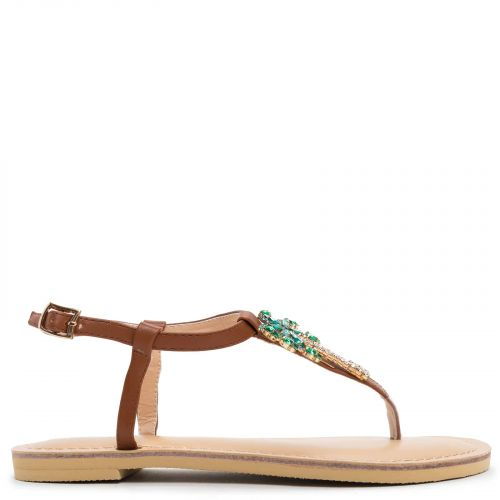 Brown sandal with palmtree